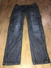 Machine Denim Cargo Skinny Jeans Stretch with Zipper Ankles  Size 7