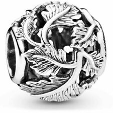 Flores Filigrana Rondelle sólido 925 plata esterlina europeo encanto grano