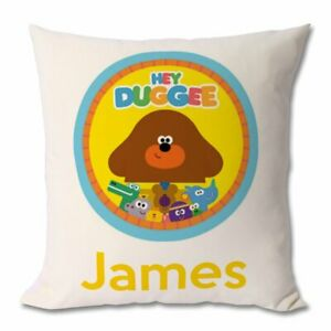 hey duggee  Personalised  cushion pillow with any name Cover only