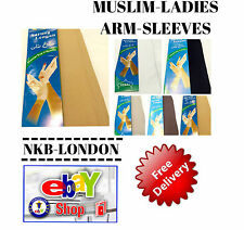 MUSLIM GIRLS LADIES KIDS READYMADE HIJAB ARM SLEEVES STRETCHY  DIFFERENT COLOURS
