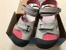Columbia Splisher Youth Girls Closed Toe Sandals Size 5 NEW In Box Pink Grey