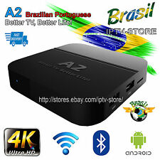 2017 Newest A2 Portuguese Brazilian 4K UHD IPTV Internet Live Brazil TV Box