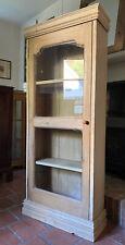 Victorian Antique Pine Hall Storage Glazed Cabinet