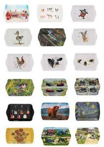 Melamine Small Snack Dish - Small Tray - Drinks Tray - Various Designs