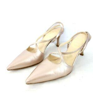 Mia Letizia Ladies Sandals Pumps Shoes Size 39 Leather Rose Metallic Np 248 New