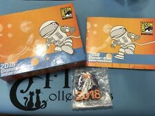 SDCC 2018 San Diego Comic Con Badge Box Astronaut Toucan Pin and Book