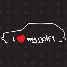 I love my vw Golf 1 MK1 - Fan Pegatinas , Auto Tuning Pegatina