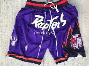 Toronto Raptors Shorts Purple All Stitched Sport Shorts