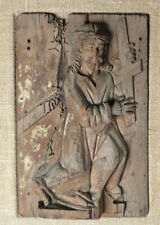 Continental 17th century Carved Wood Panel, in bas relief, Stations of the Cross