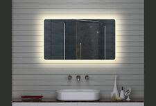 Design LED Badezimmerspiegel Badspiegel Wandspiegel Lichtspiegel 140x70cm M15714