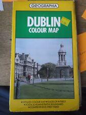 GEOGRAPHIA COLOUR MAP OF DUBLIN  1988