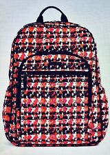 Vera Bradley Campus Tech Backpack Houndstooth Tweed College School Travel NEW!