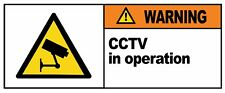 WARNING - CCTV IN OPERATION - Removable Self Adhesive Label 100mm x 148mm 4ct