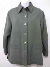 Travel Smith Womens Petite XS PXS Olive Green Silk Lightweight Jacket Blazer
