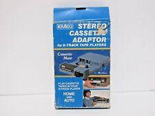 KRACO STEREO CASSETTE ADAPTOR FOR 8 TRACK TAPE PLAYERS  MODEL KCA-7
