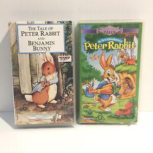 2 VHS - Tale of Peter Rabbit and Benjamin Bunny- Adventure Peter Rabbit