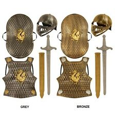 Childs Medieval Knight Armour Helmet Sword Shield Breastplate Breast Plate Set