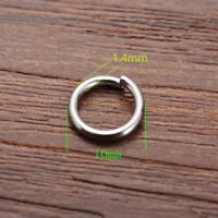 Wholesale 10x1.4mm 15Gauge Stainless steel Open Jump Rings Jewelry Making Supply