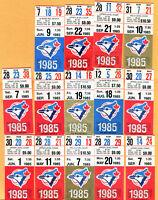 GREAT LOT OF 14 TICKET STUBS-1985 TORONTO BLUE JAYS
