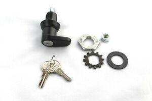Truck bed tonneau cover lock handle, Locking  Black teardrop  L-handle #T502L