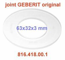 1 JOINT GEBERIT ORIGINAL  816.418.00.1   63X32X3 mm pour cloche GEBERIT WC