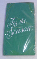 "Green ""Tis the Season"" Lrg. Paper Dinner Napkin/Guest Towel 30 Pc. 15.6""x11.6"""