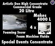 SNOW MACHINE FLUID 20L Pure Concentrate (200:1)  Makes 4000L Foam Machine Fluid