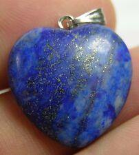 #9 19.80ct Afghanistan 100% Natural Lapis Lazuli Heart Shape Pendant 3.95g 19 mm
