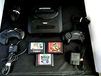 Sega Genesis Console Game Lot Of 8 Console MK-1631 Controllers  3 Games Sonic 2
