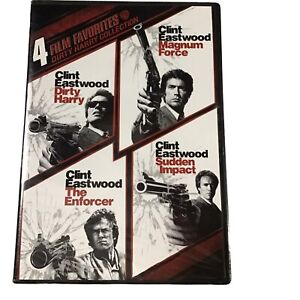 Clint Eastwood Magnum Force, Dirty Harry, The Enforcer, Sudden Impact DVD ~ NEW~