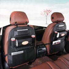 Car Auto Back Seat Organizer Holder Multi-Pocket Travel Storage Bag Hanger Brown