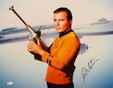William Shatner Signed *Blk Star Trek 16x20 Captain Kirk Posing Photo- JSA W Aut