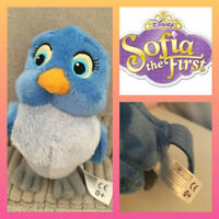 Disney Junior Sofia The First ~ Mia BLUE BIRD  ~6in~ Soft Plush Toy