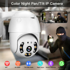 1080P Wireless Security IP Camera Pan Tilt Waterproof for Farm Home CCTV System