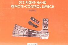 Lionel 072 Right-Hand Remote Control Switch 6-65165 NEW NEVER USED