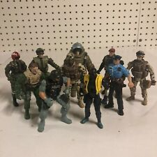 """Lot of 10 Chap Mei Vintage Police Army Navy USMC 3.75"""" - 4"""" Action Figures"""