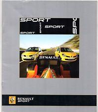 Renault RenaultSport 2007-08 UK Market Brochure Clio 197 Megane 175 225 230
