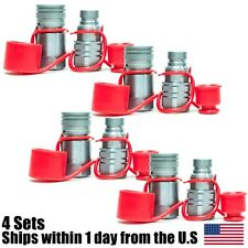 """4 Sets 1/2"""" NPT Skid Steer Flat Face Hydraulic Quick Connect Couplers For Bobcat"""