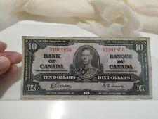 1937 Bank of Canada 10 Dollar Bill (F)