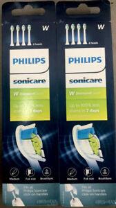 8x 8 pcs Philips Sonicare Diamond Clean HX6064/65 Replacement Brush Heads White