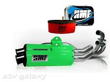 HMF Performance GREEN BLACK Dual Full Exhaust Jet Uni Filter Kawasaki KFX700