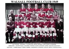 WALSALL F.C. TEAM PRINT 1949 (DEVLIN/MORRIS/BETTS)