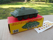 VEHICULE MILITAIRE HO ESPEWEMODELLE METAL ENGIN BLINDE 8 ROUES MINT IN BOX