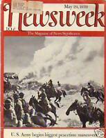 1939 Newsweek May 29 -v Peacetime Maneuvers for U.S.