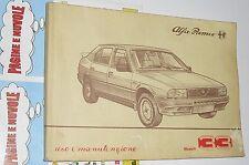 USO E MANUTENZIONE manuale auto ALFA ROMEO modelli 33