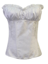 Hot Sale Elastic Breasted Corset With Pants - White
