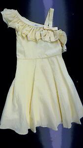 Girls Bonnie Jean Yellow & White Summer Sundress Sizes 7, 10, 12 & 16