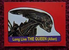 1988 Topps FRIGHT FLICKS Horror Movies Sticker Card #2 ~ ALIEN QUEEN