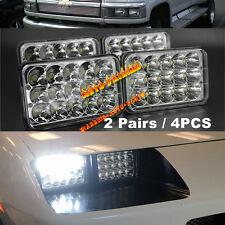 2 Pairs LED Headlights For Chevrolet C4500 C5500 vehicles w/ dual headlights x4