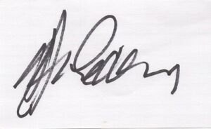 Gerry Cooney - Heavyweight Boxer - Autographed 3x5 Card